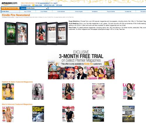 Amazon Kindle Fire Magazines