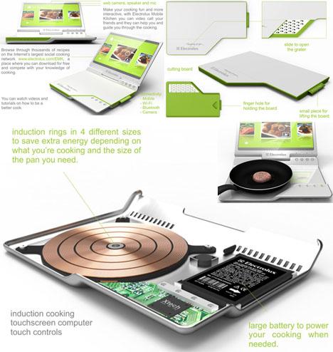 laptop kitchen