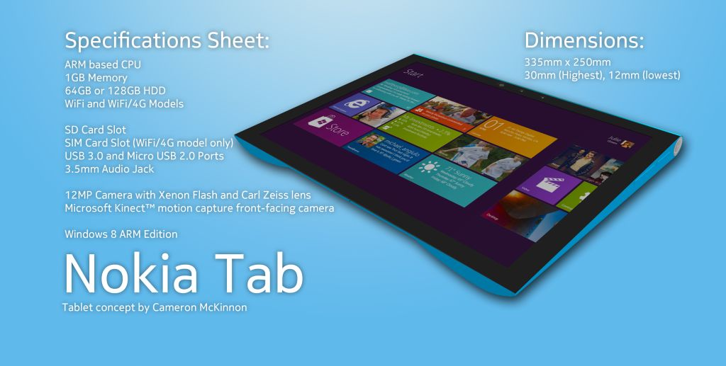 Nokia Windows 8 tab