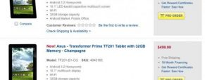 Now You Can Pre-Order Asus Transformer Prime At Best Buy